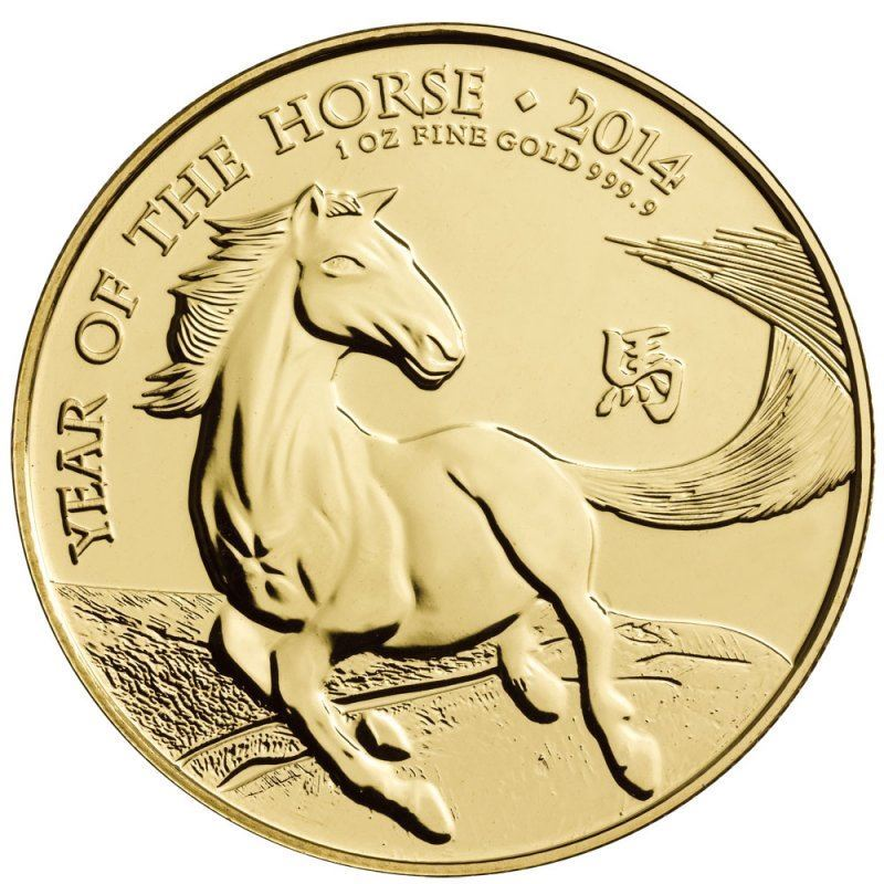 Picture of 2014 1oz 24k Gold UK Lunar 'Year Of The Horse'