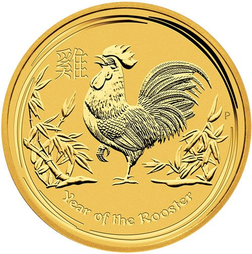 Picture of 2017 1/10oz 24k Gold Australian 'Year Of The Rooster'