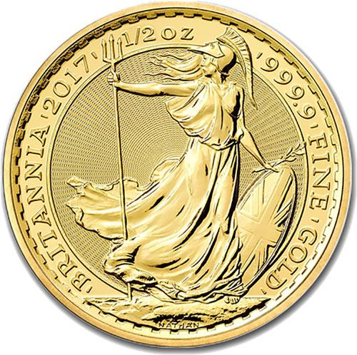 Picture of 1/2oz 24k Gold UK Britannia - Varied Years