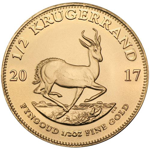 Picture of 1/2oz 22k Gold South African Krugerrand - Varied Years