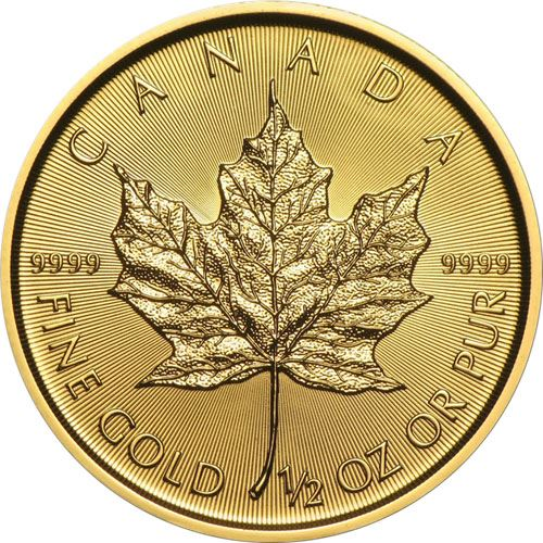 Picture of 1/2oz 24k Gold Canadian Maple Leaf - Varied Years
