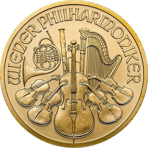 Picture of 1/2oz 24k Gold Austrian Philharmonic - Varied Years