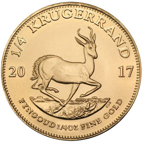 Picture of 1/4oz 22k Gold South African Krugerrand - Varied Years