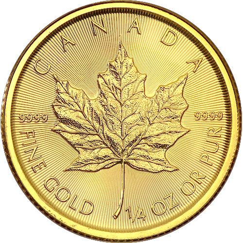 Picture of 1/4oz 24k Gold Canadian Maple Leaf - Varied Years