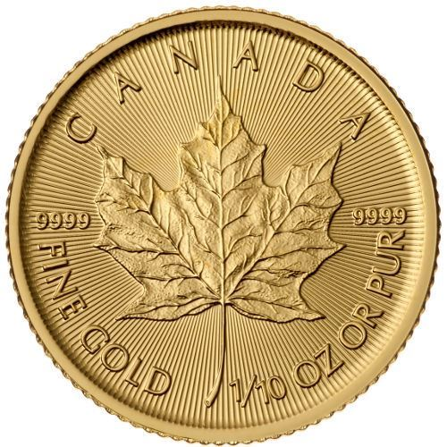Picture of 1/10oz 24k Gold Canadian Maple Leaf - Varied Years