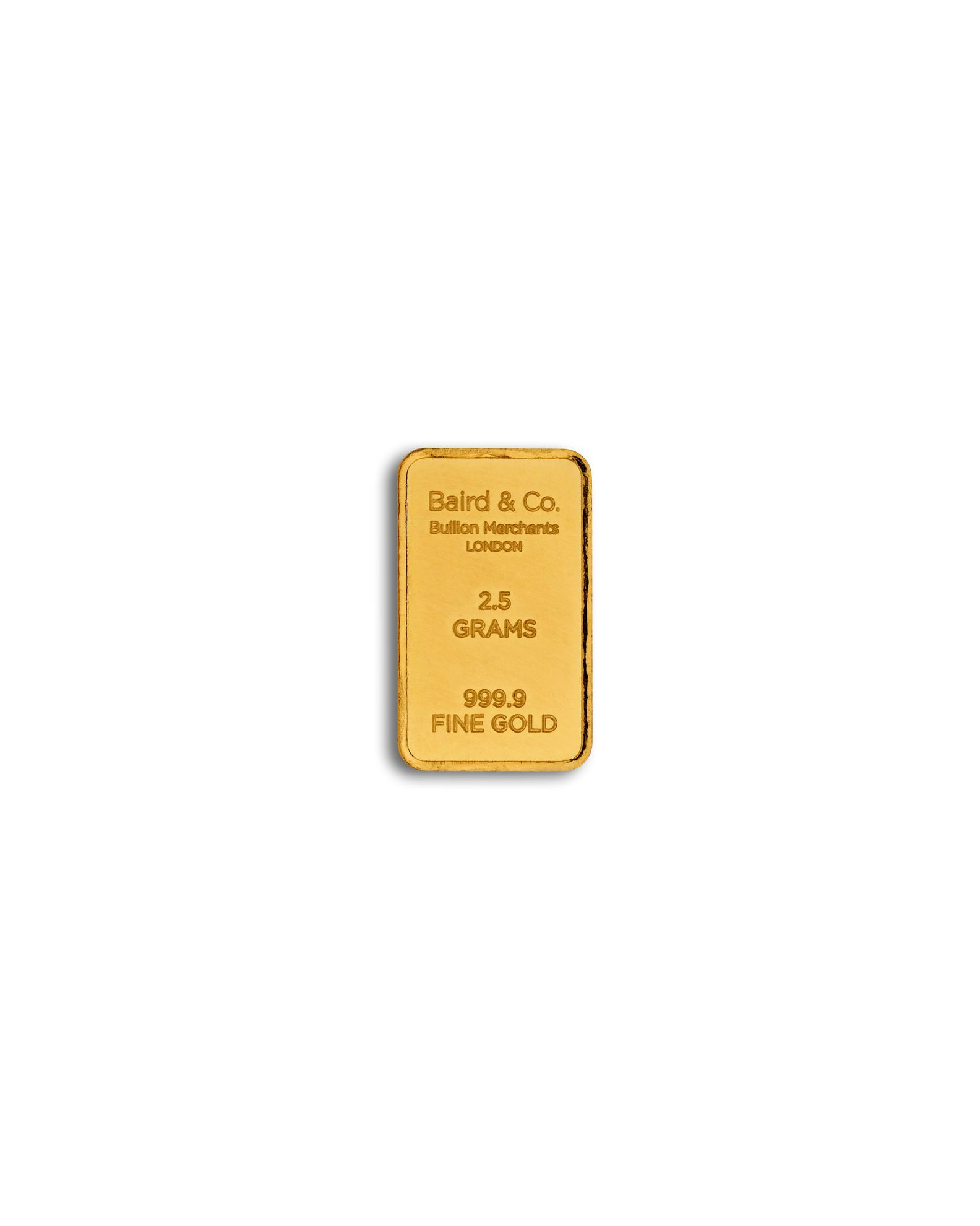 Picture of Baird 2.5g Gold Bar