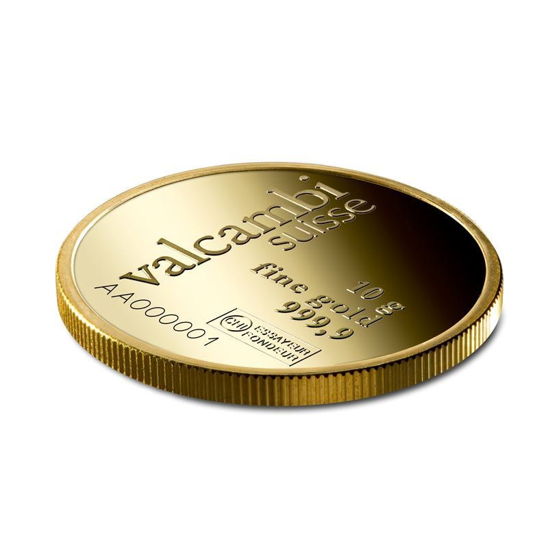 Picture of Valcambi 10g Round Gold Bar