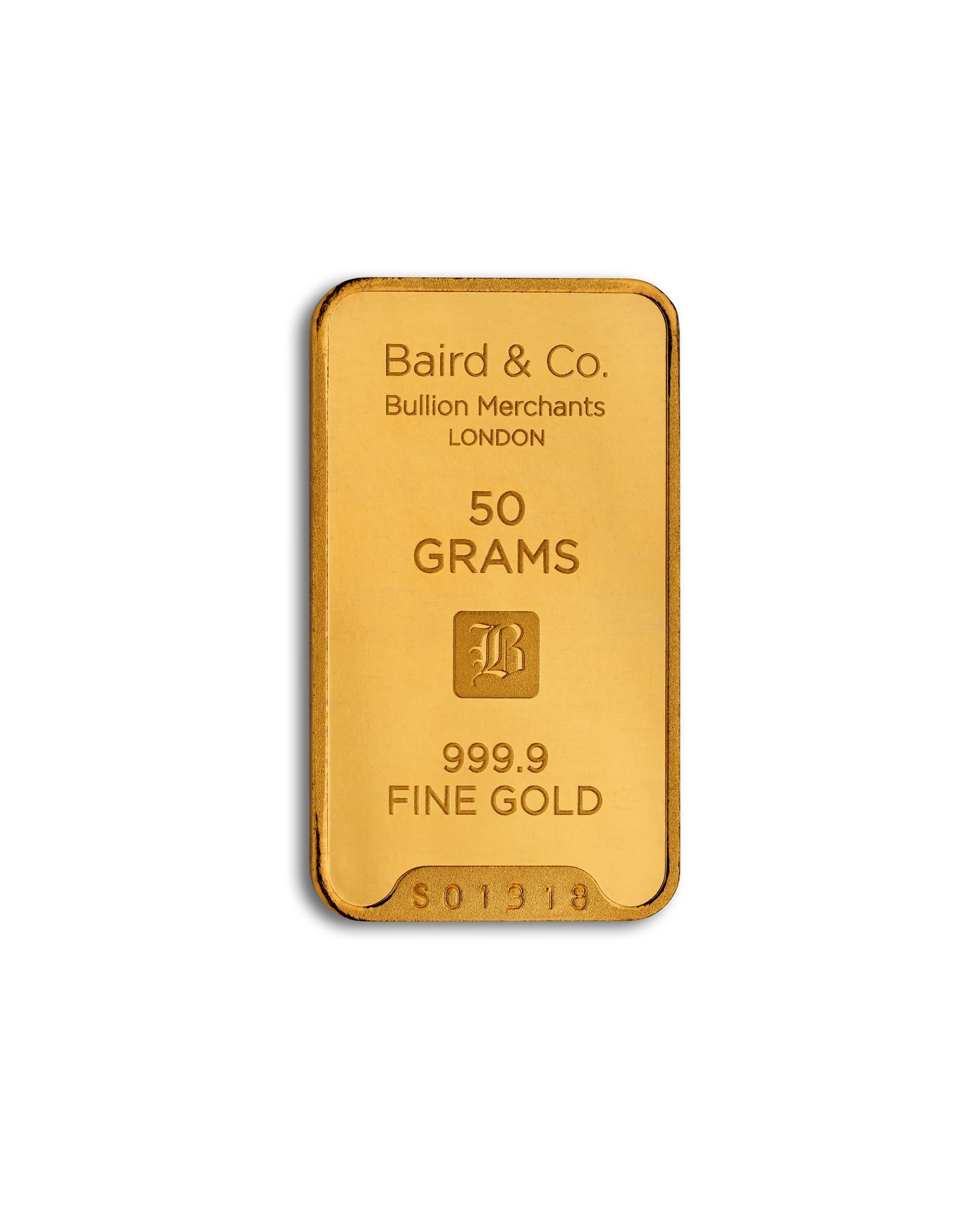 Baird 50g Gold Bar