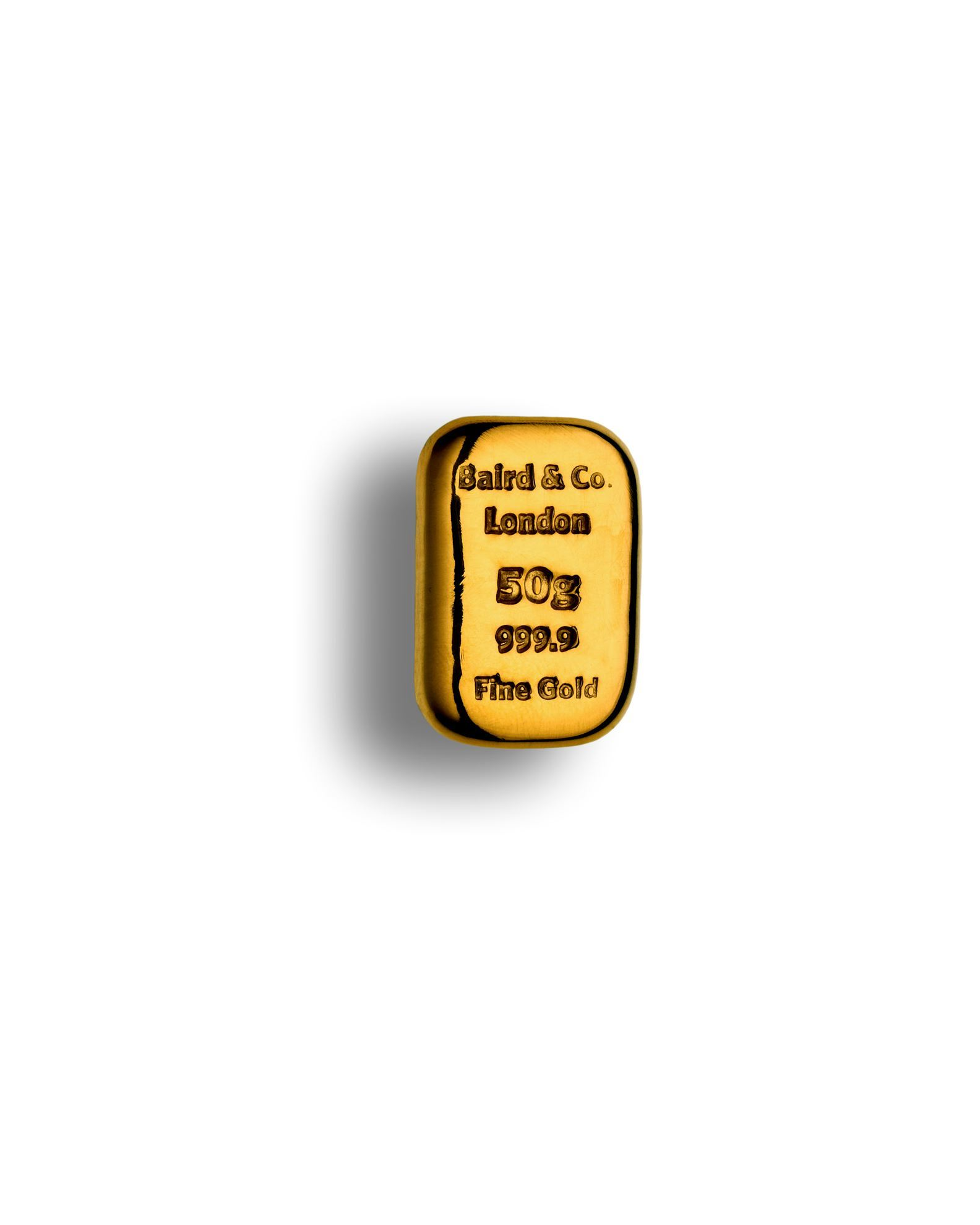 Picture of Baird 50g Cast Gold Bar