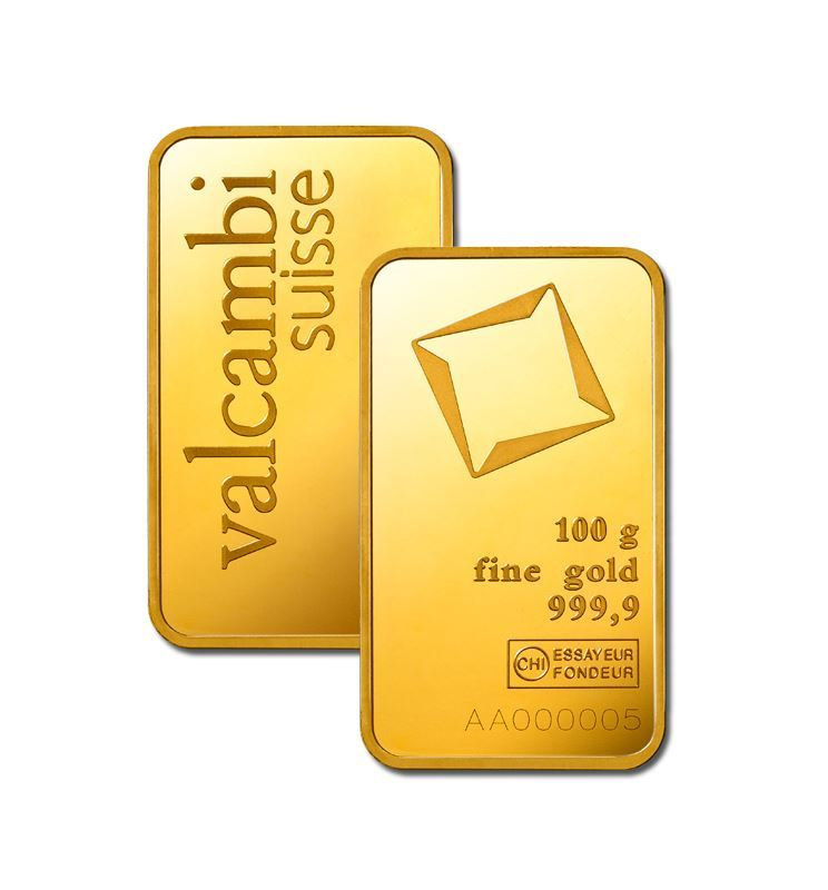 Picture of Valcambi 100g Gold Bar