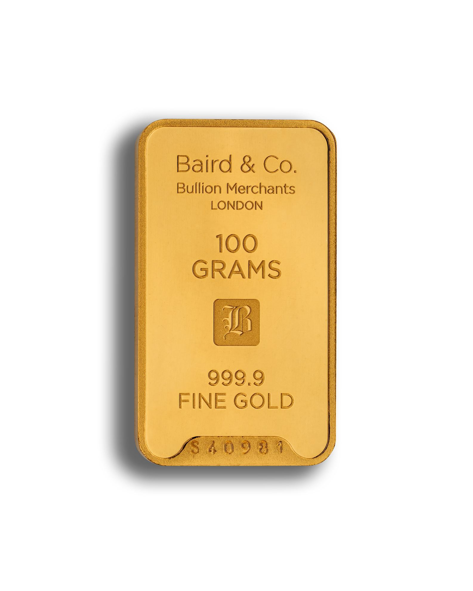 Picture of Baird 100g Gold Bar