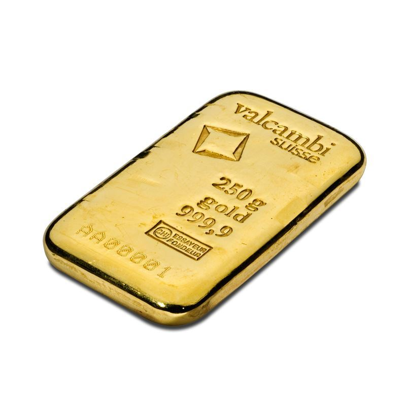 Picture of Valcambi 250g Cast Gold Bar