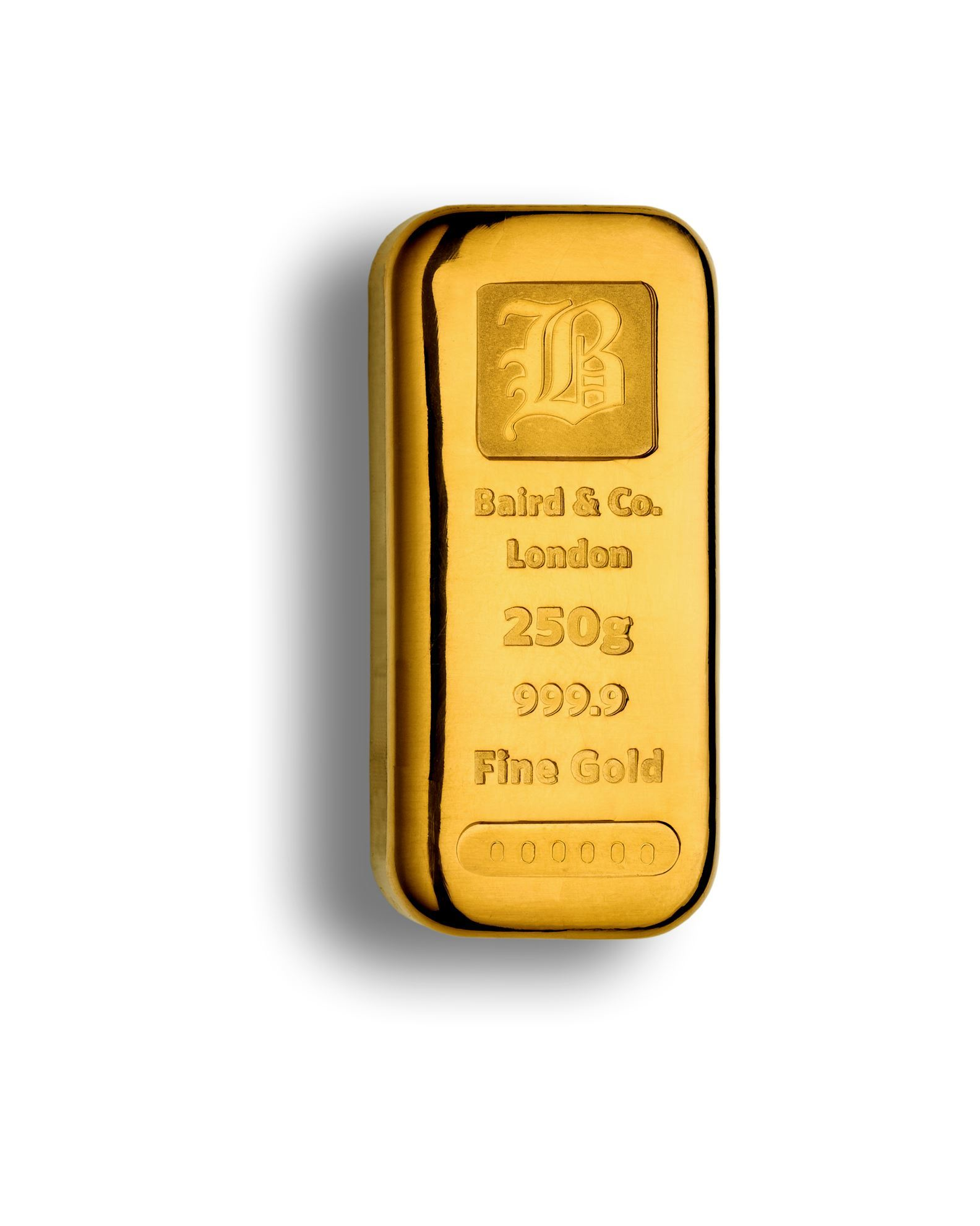 Picture of Baird 250g Cast Gold Bar