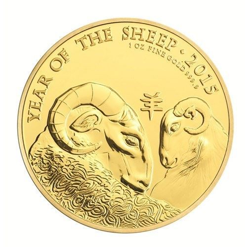 Picture of 2015 1oz 24k Gold UK Lunar 'Year Of The Sheep'
