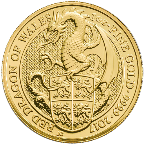 Picture of 2017 1oz 24k Gold UK Queen's Beast 'Dragon'
