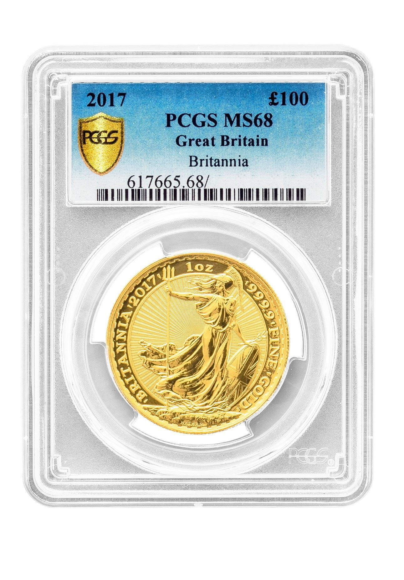 Picture of PCGS 2017 1oz Gold Britannia MS67