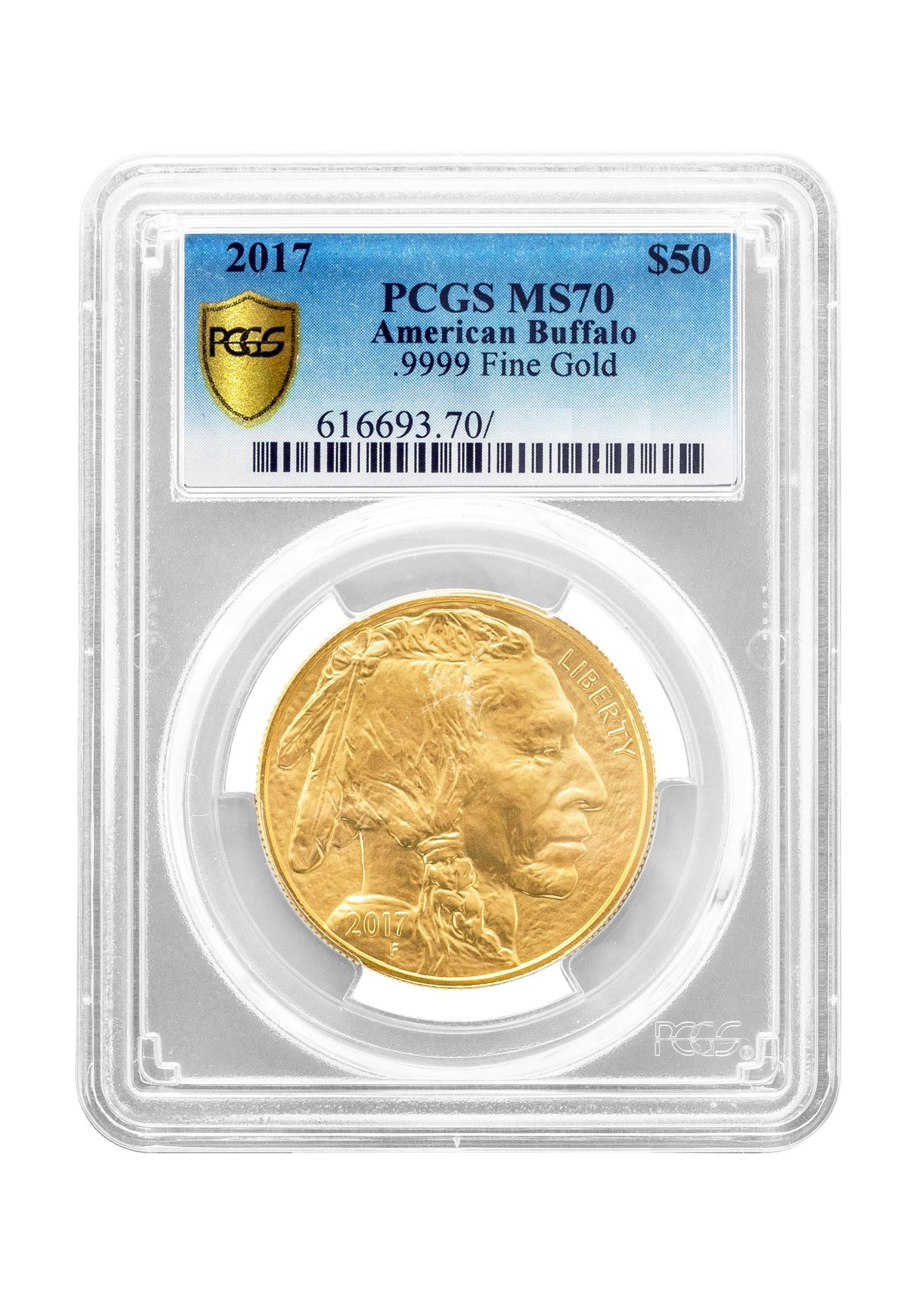 Picture of PCGS 2017 1oz Gold American Buffalo MS70