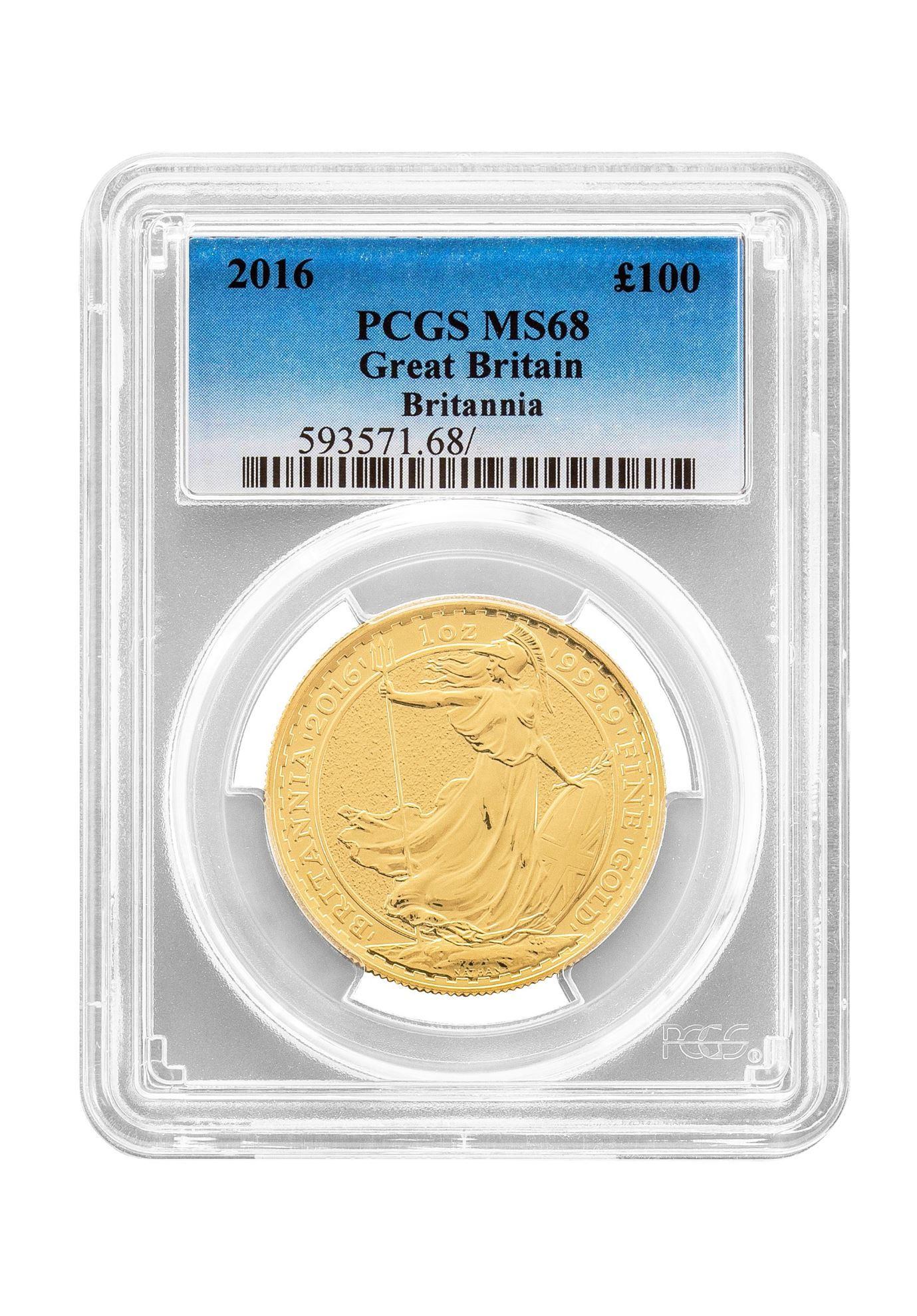Picture of PCGS 2016 1oz Gold Britannia MS68