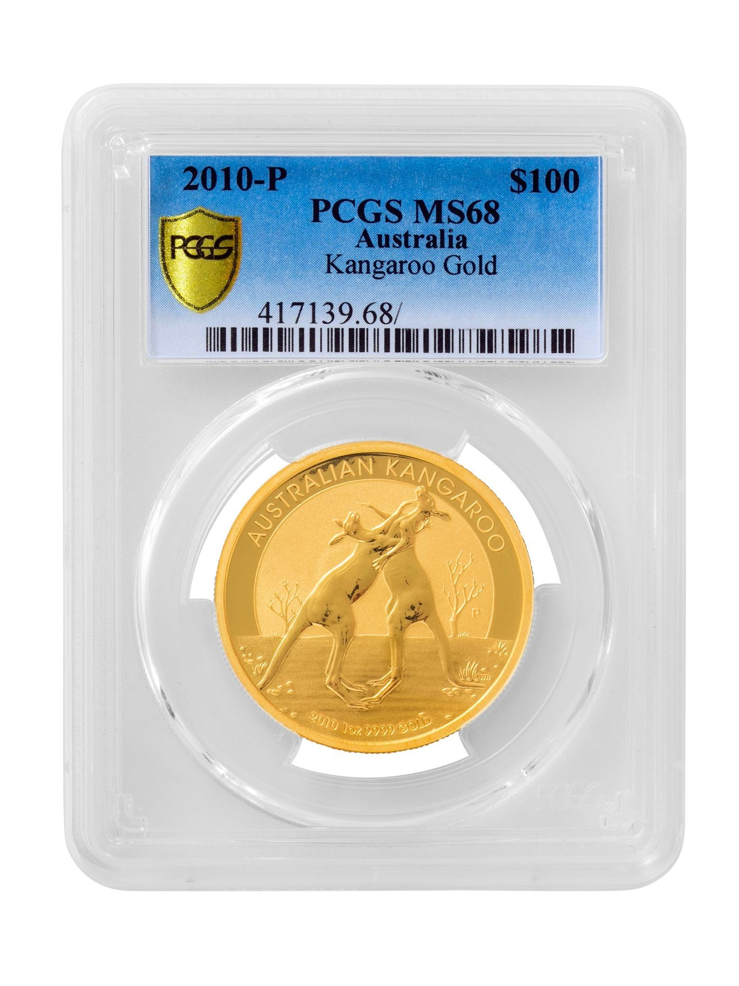 Picture of PCGS 2010 1oz Gold Australian Kangaroo MS68