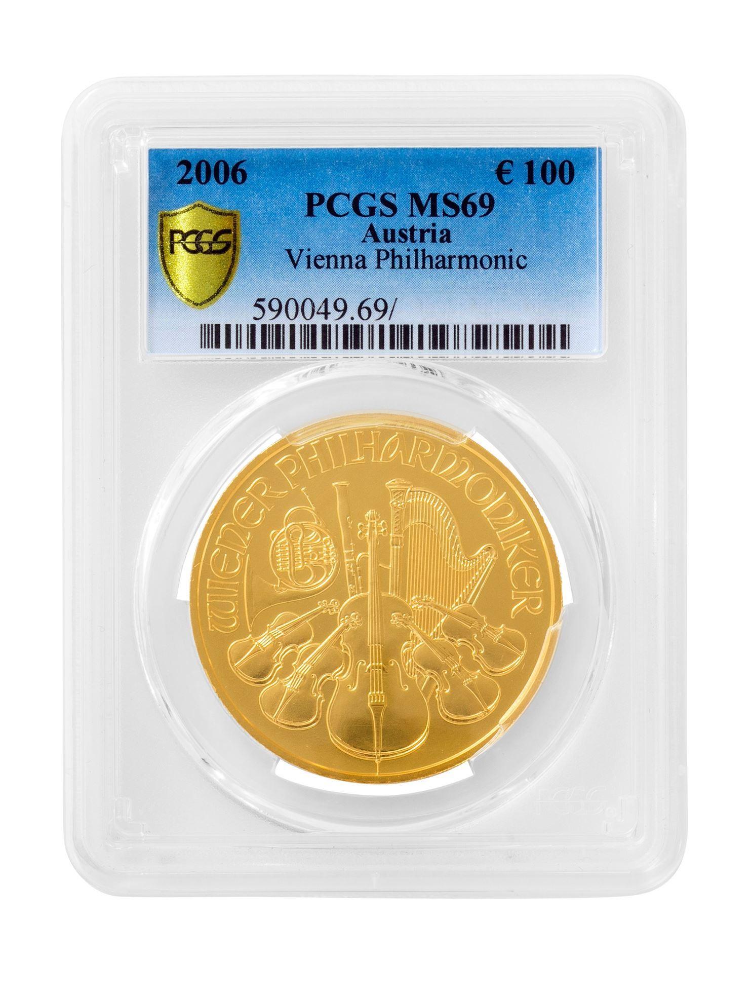Picture of PCGS 2006 1oz Gold Austrian Philharmonic MS69