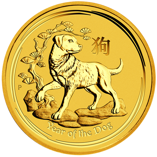 Picture of 2018 1oz 24k Gold Australian 'Year Of The Dog'