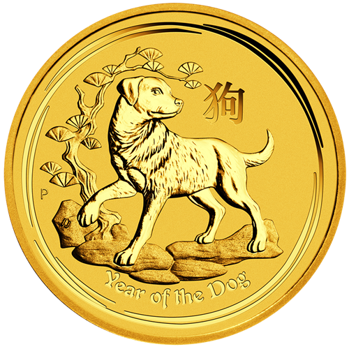 Picture of 2018 1/2oz 24k Gold Australian 'Year Of The Dog'