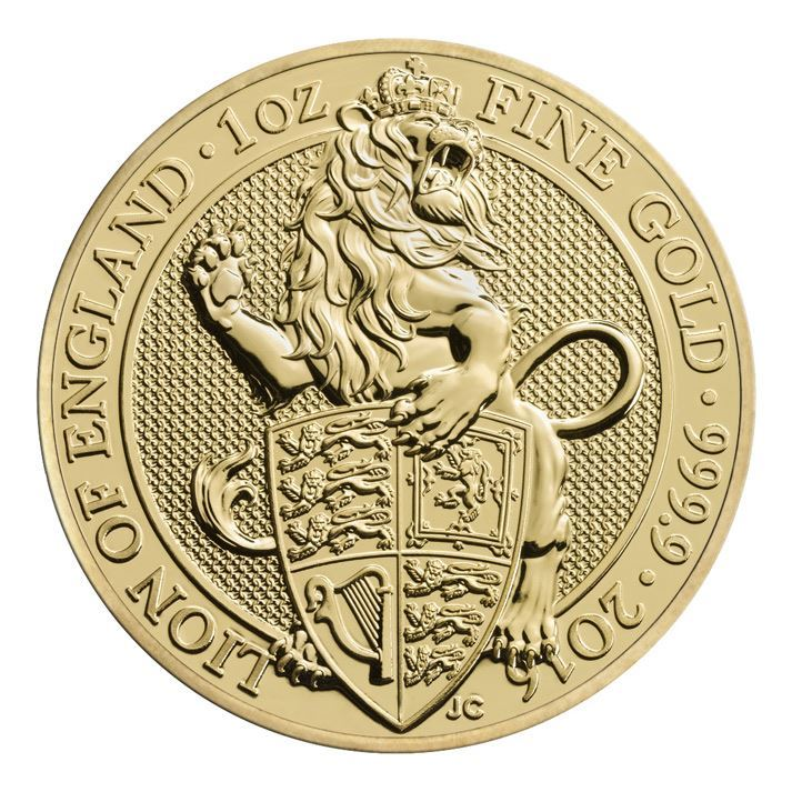 Picture of 2016 1oz 24k Gold UK Queen's Beast 'Lion'