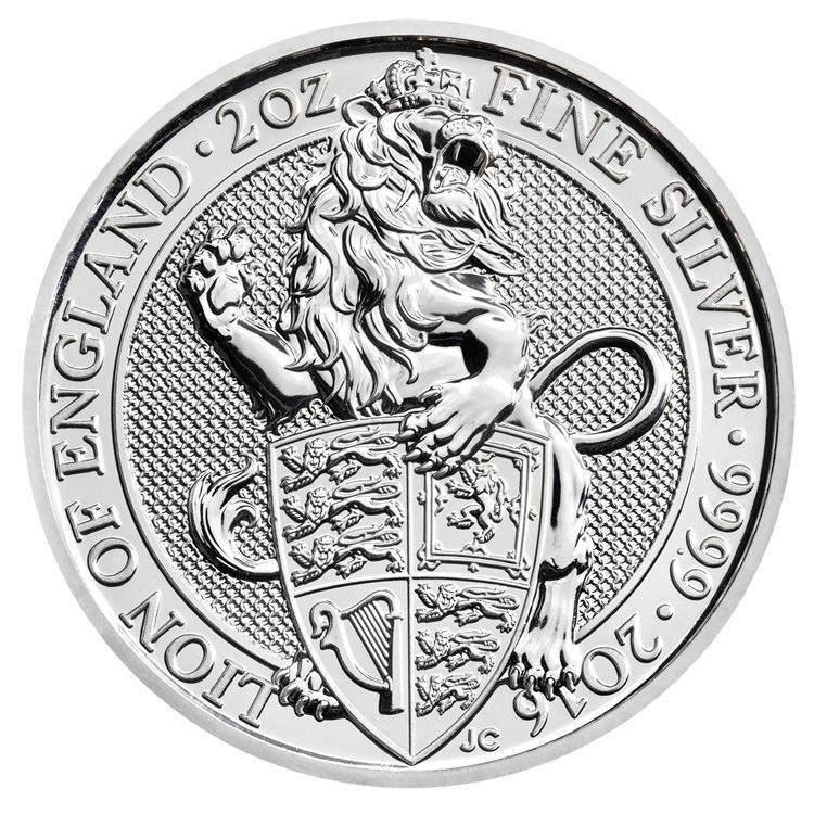 Picture of 2016 2oz Silver UK Queens Beast 'Lion'