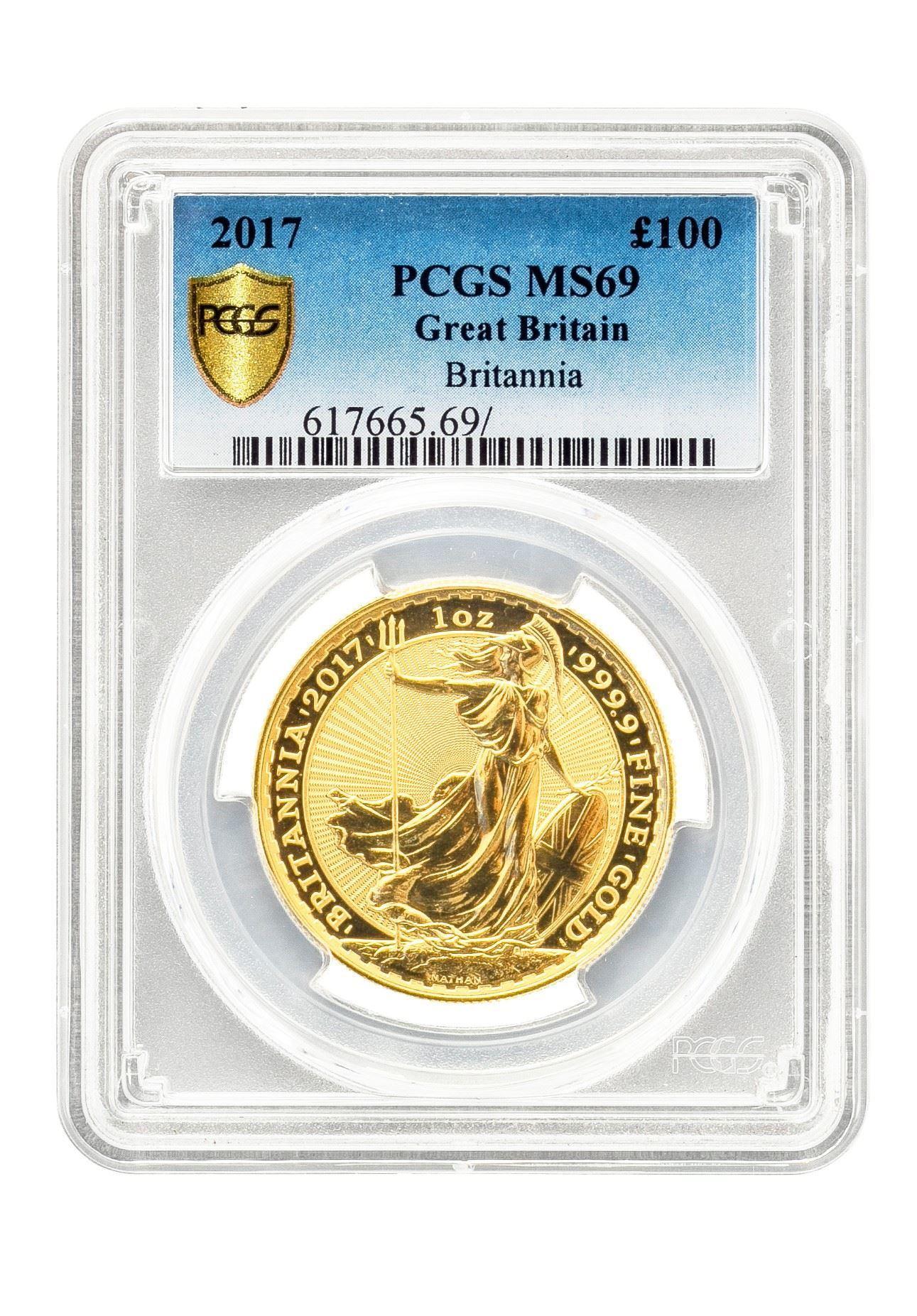 Picture of PCGS 2017 1oz Gold Britannia MS69