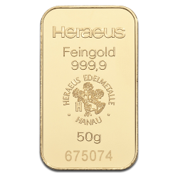 Picture of Heraeus 50g Gold Bar