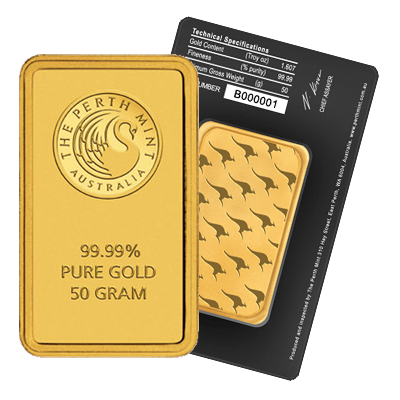 Picture of Perth Mint 50g Gold Bar