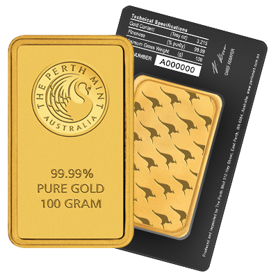 Picture of Perth Mint 100g Gold Bar