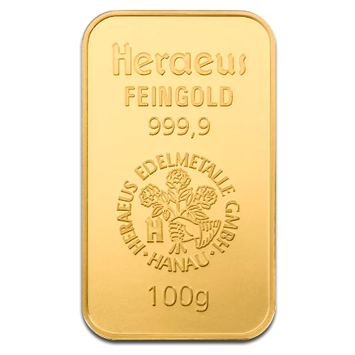 Picture of Heraeus 100g Gold Bar