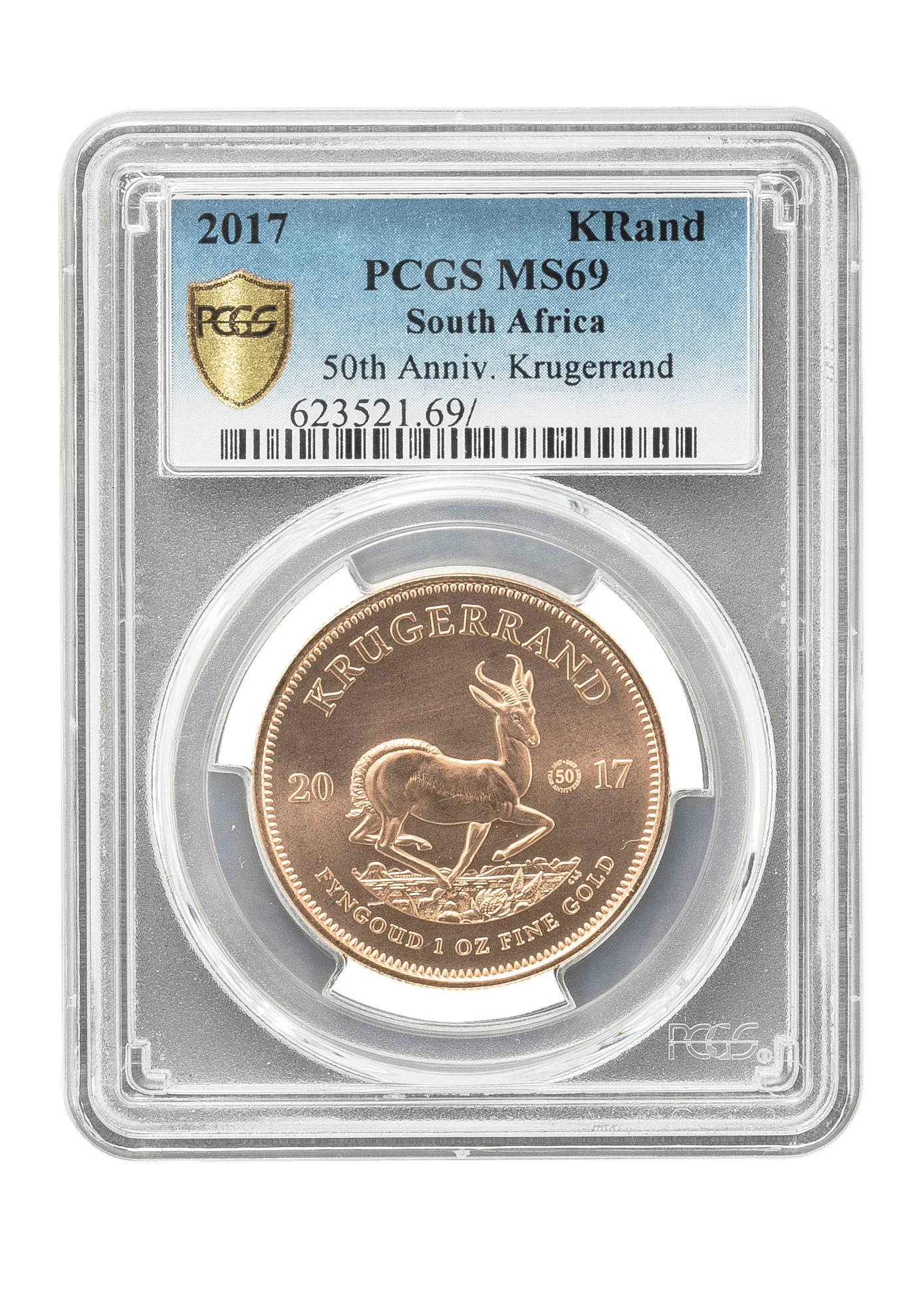 Picture of PCGS 2017 1oz Gold South African Krugerrand MS69