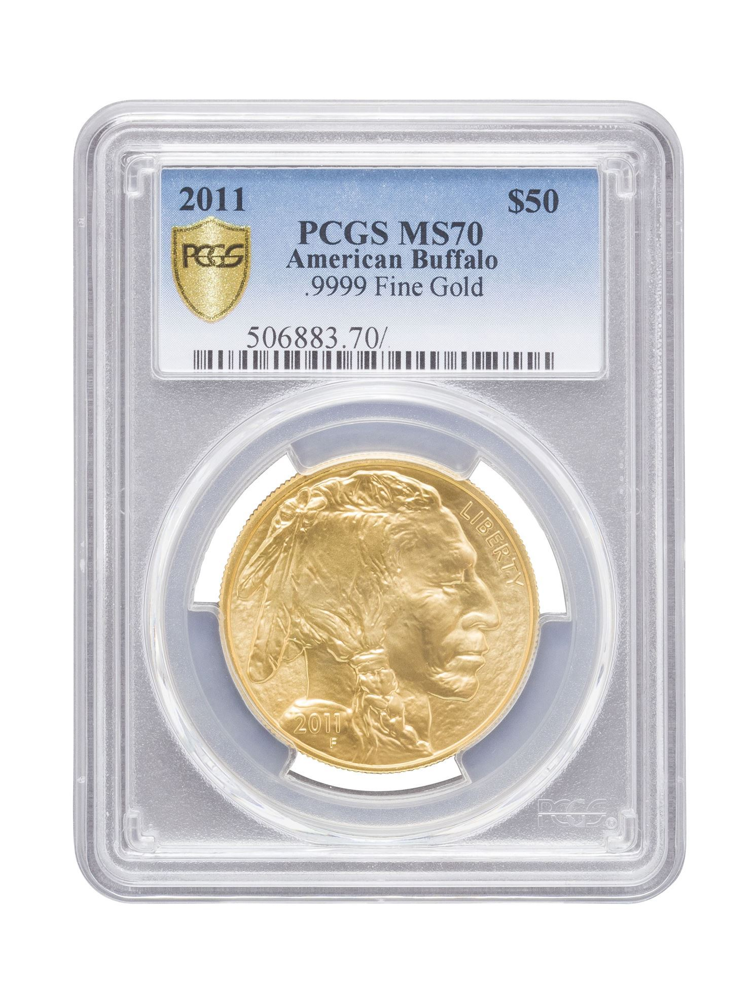 Picture of PCGS 2011 1oz Gold American Buffalo MS70