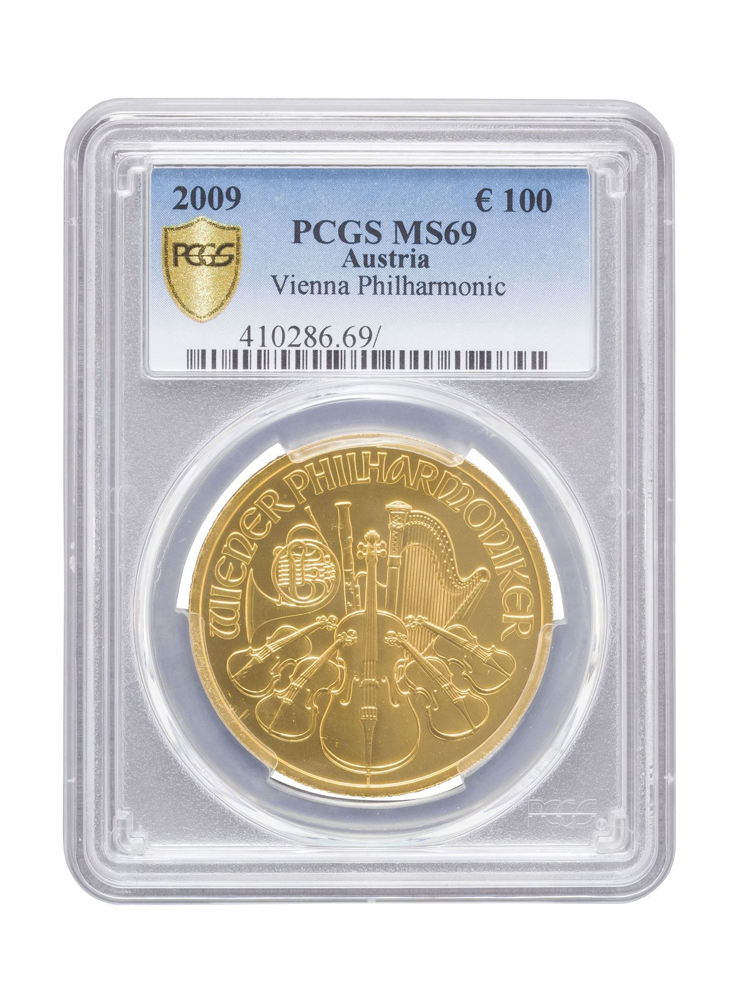 Picture of PCGS 2009 1oz Gold Austrian Philharmonic MS69
