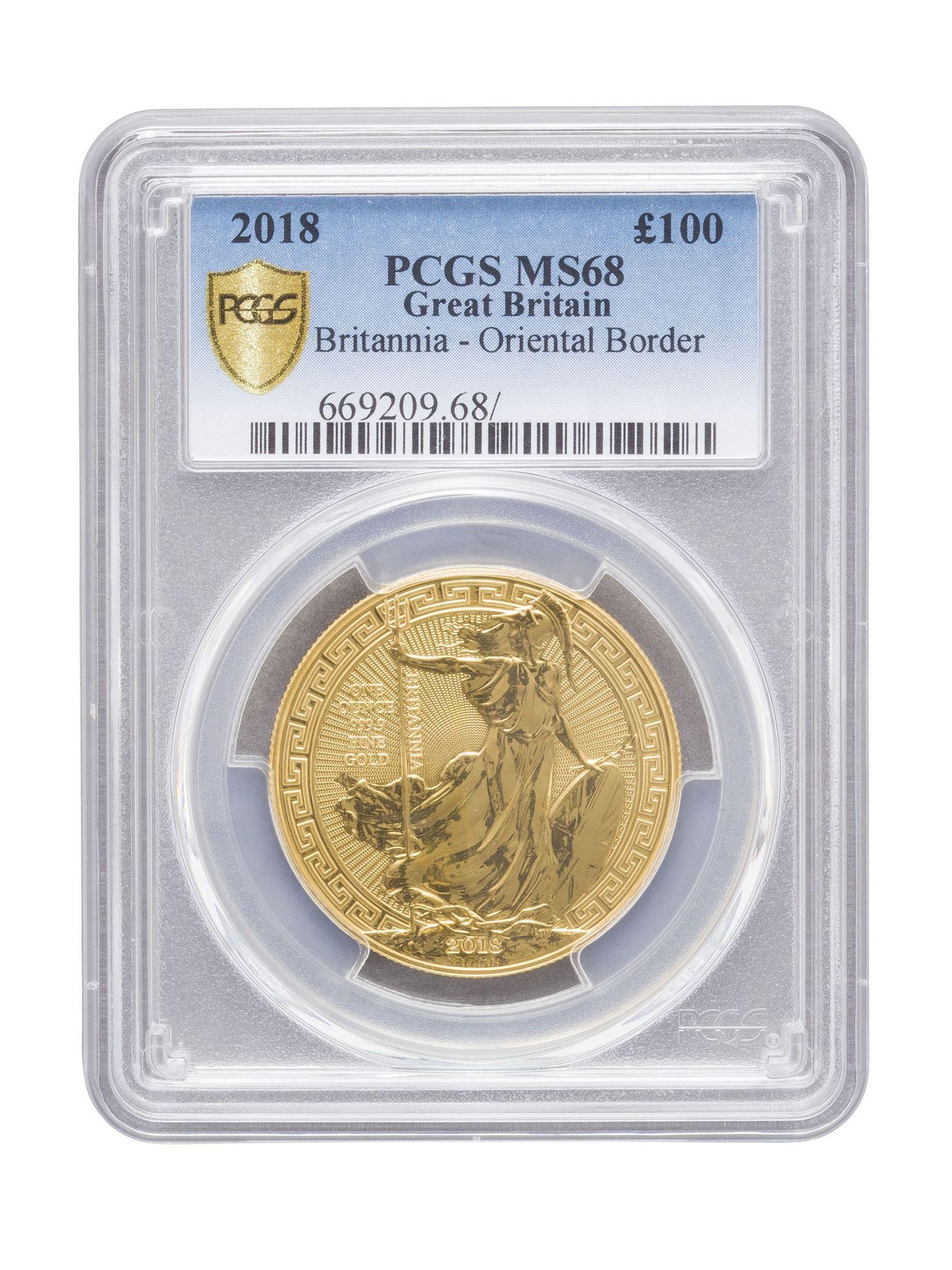 Picture of PCGS 2018 1oz Gold Britannia Oriental Border MS68