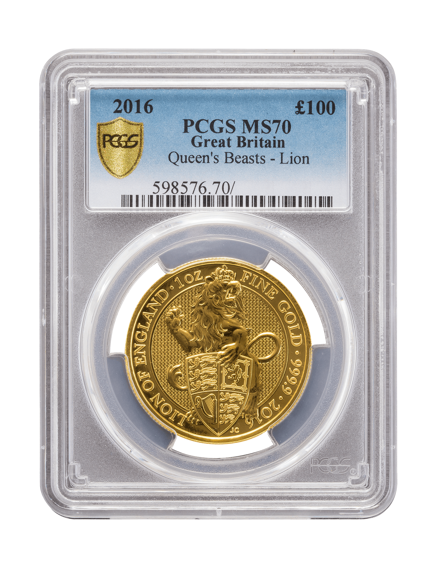 Picture of PCGS 2016 1oz Gold Queen's Beast 'Lion' MS70