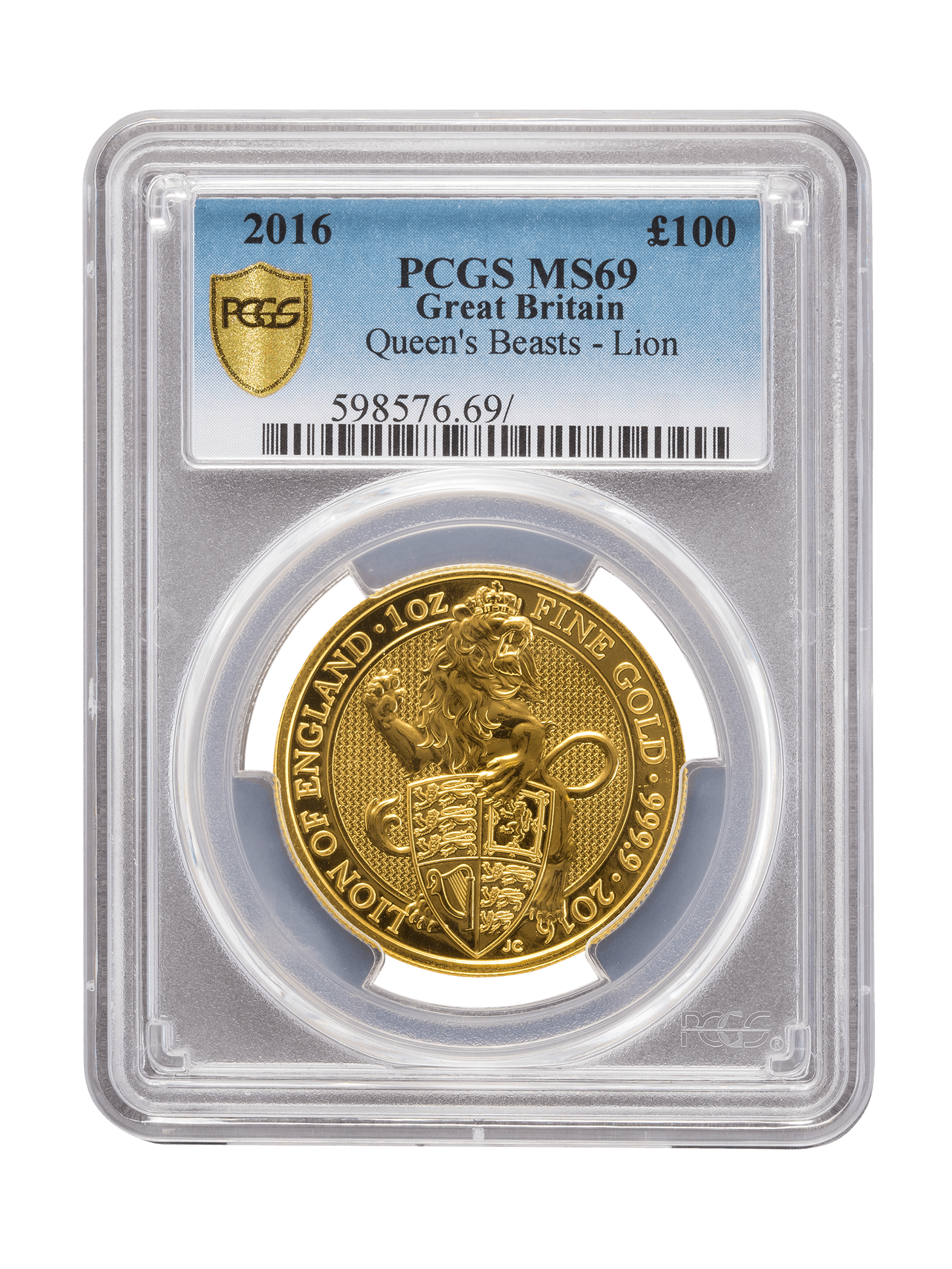 Picture of PCGS 2016 1oz Gold Queen's Beast 'Lion' MS69
