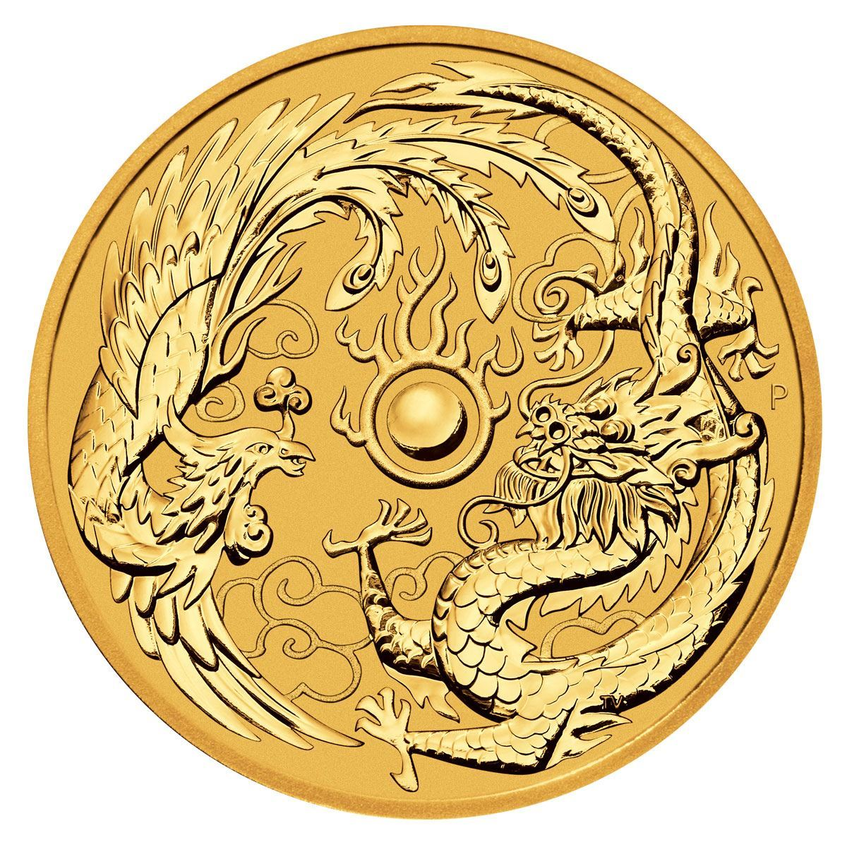 Picture of 2018 1oz 24k Gold Australian Dragon and the Phoenix