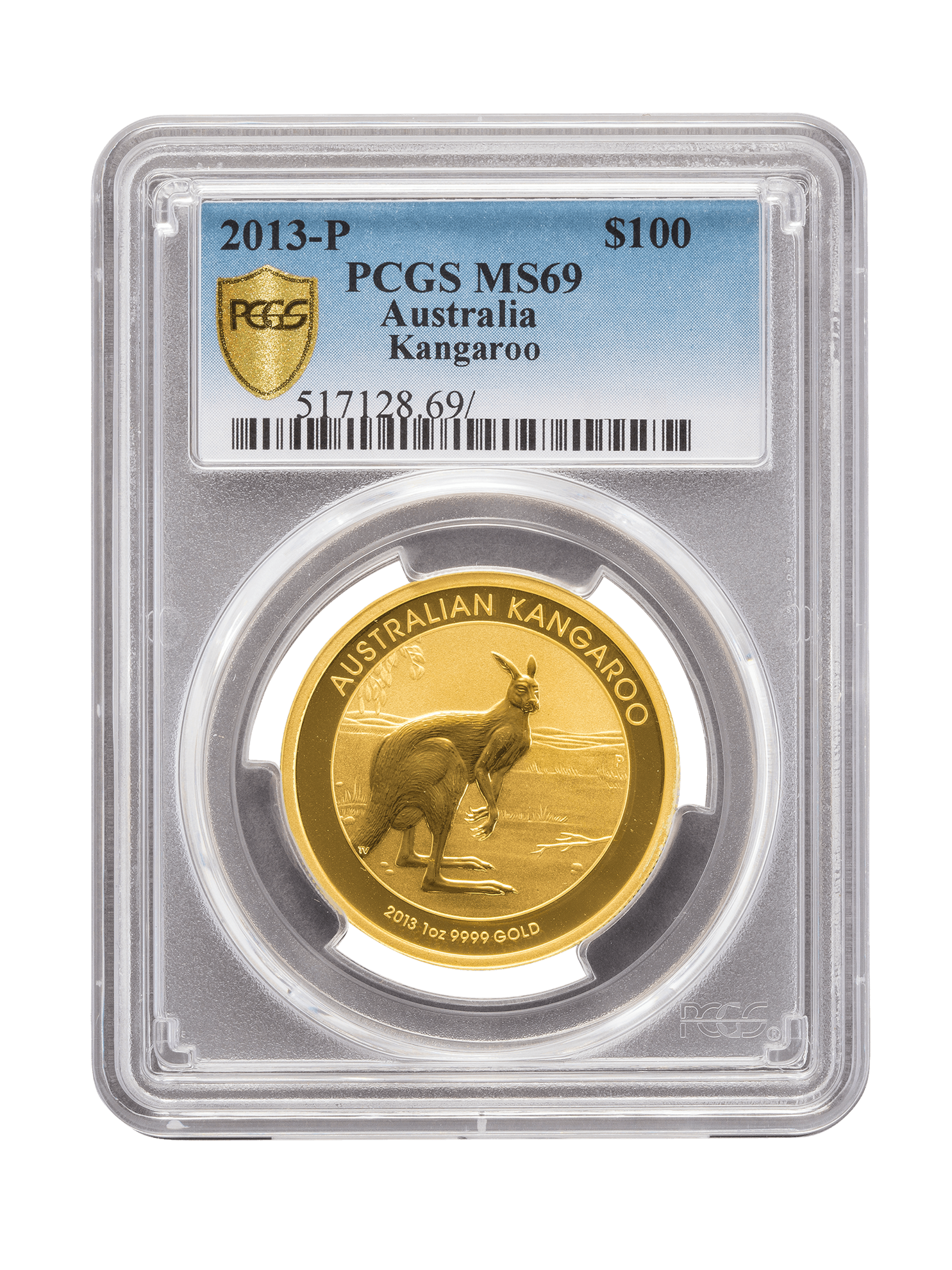 Picture of PCGS 2013 1oz Gold Australian Kangaroo MS69