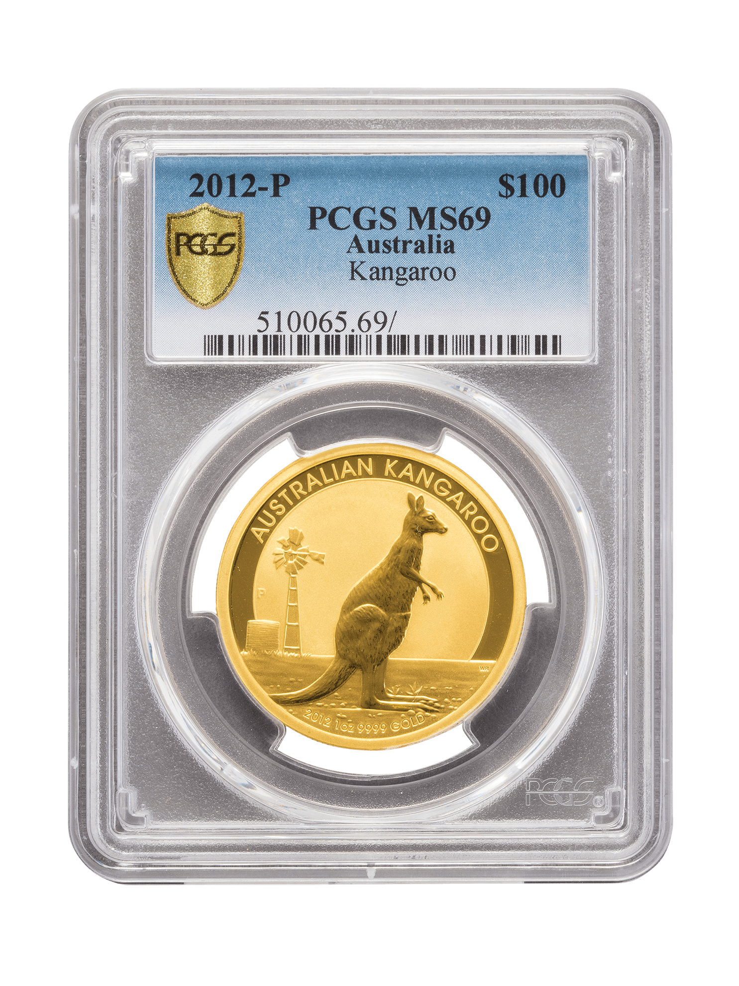 Picture of PCGS 2012 1oz Gold Australian Kangaroo MS69