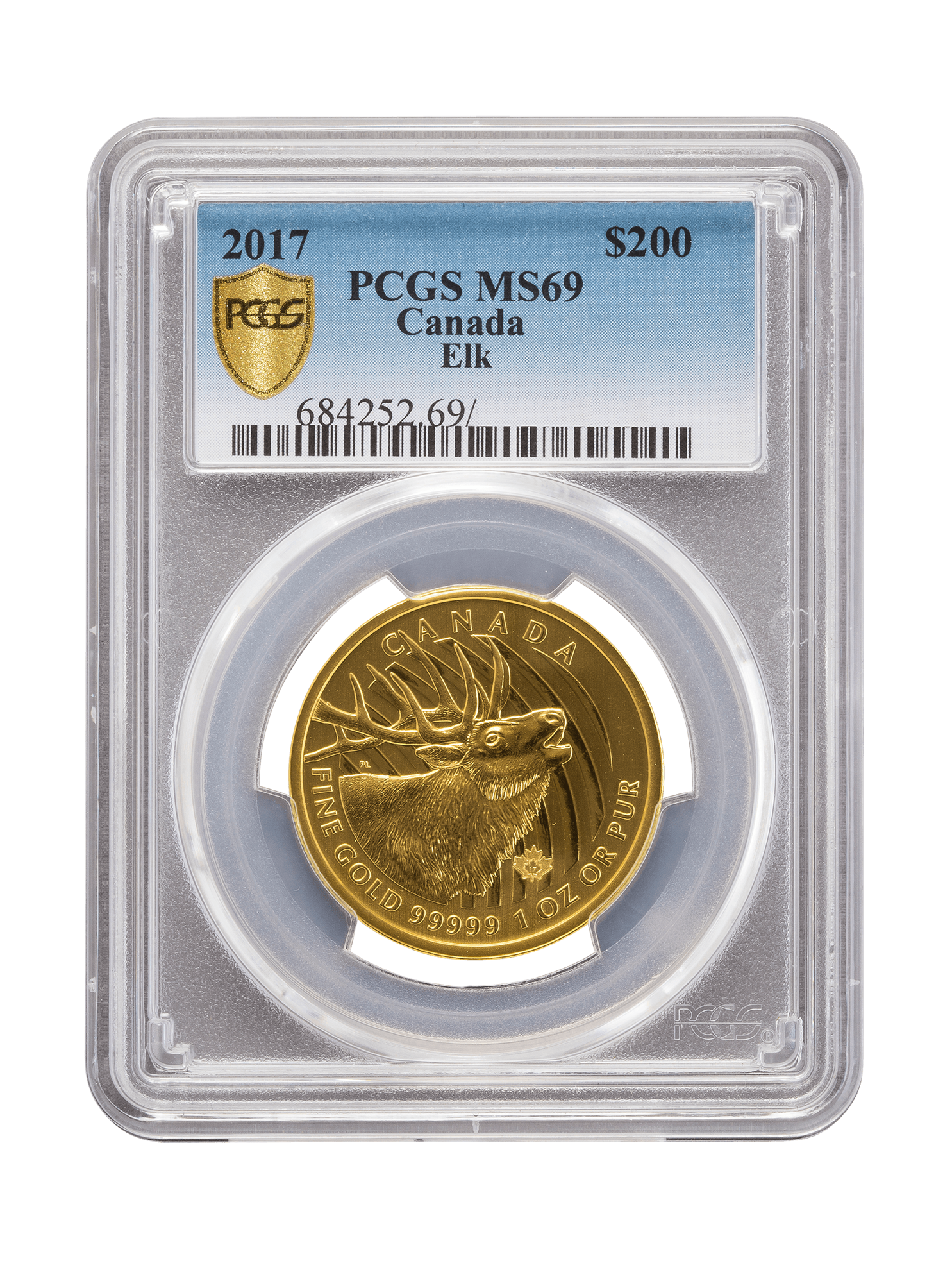 Picture of PCGS 2017 1oz Gold Call of the Wild 'Elk' MS69