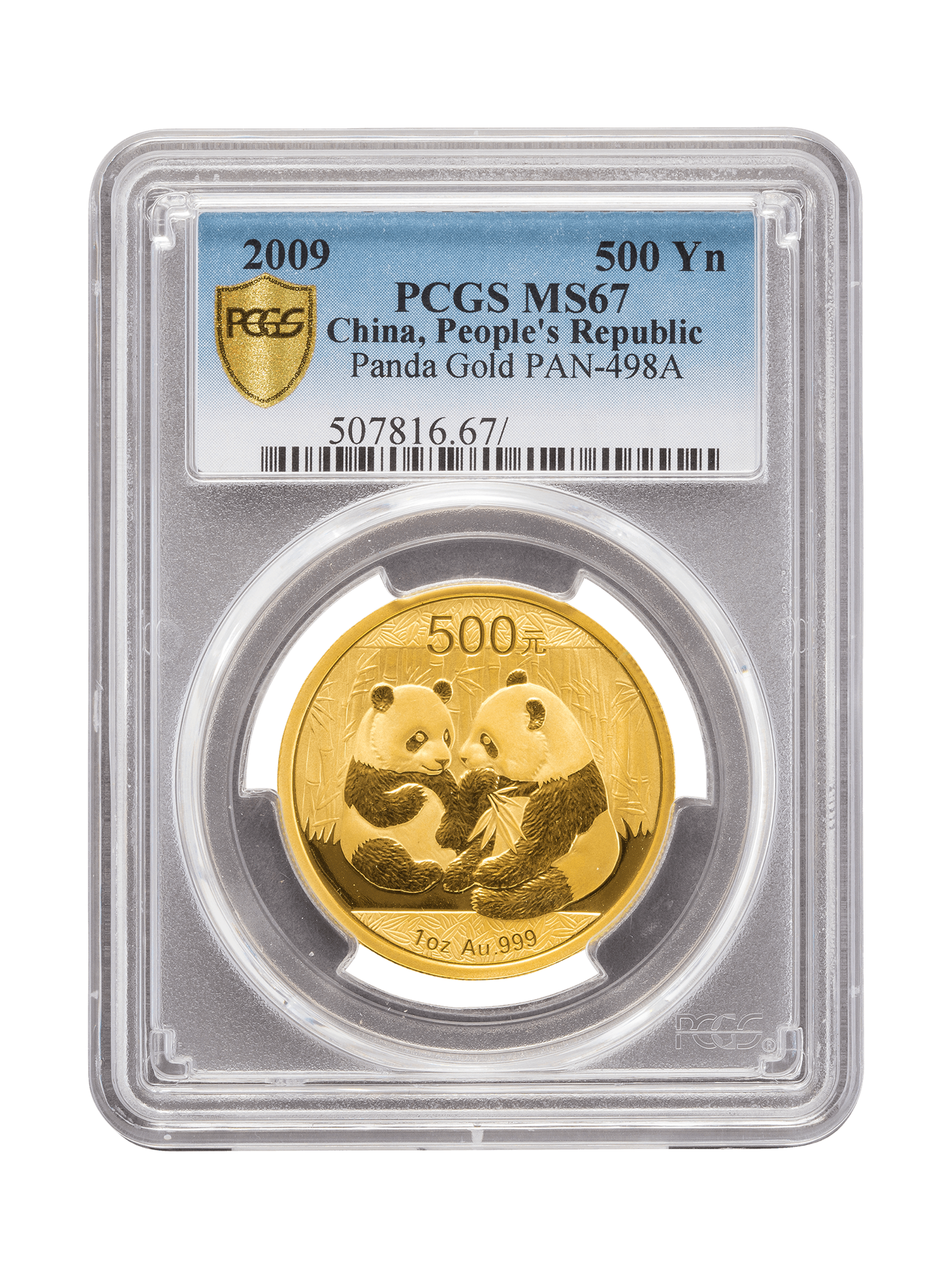 Picture of PCGS 2009 1oz Gold Chinese Panda MS67