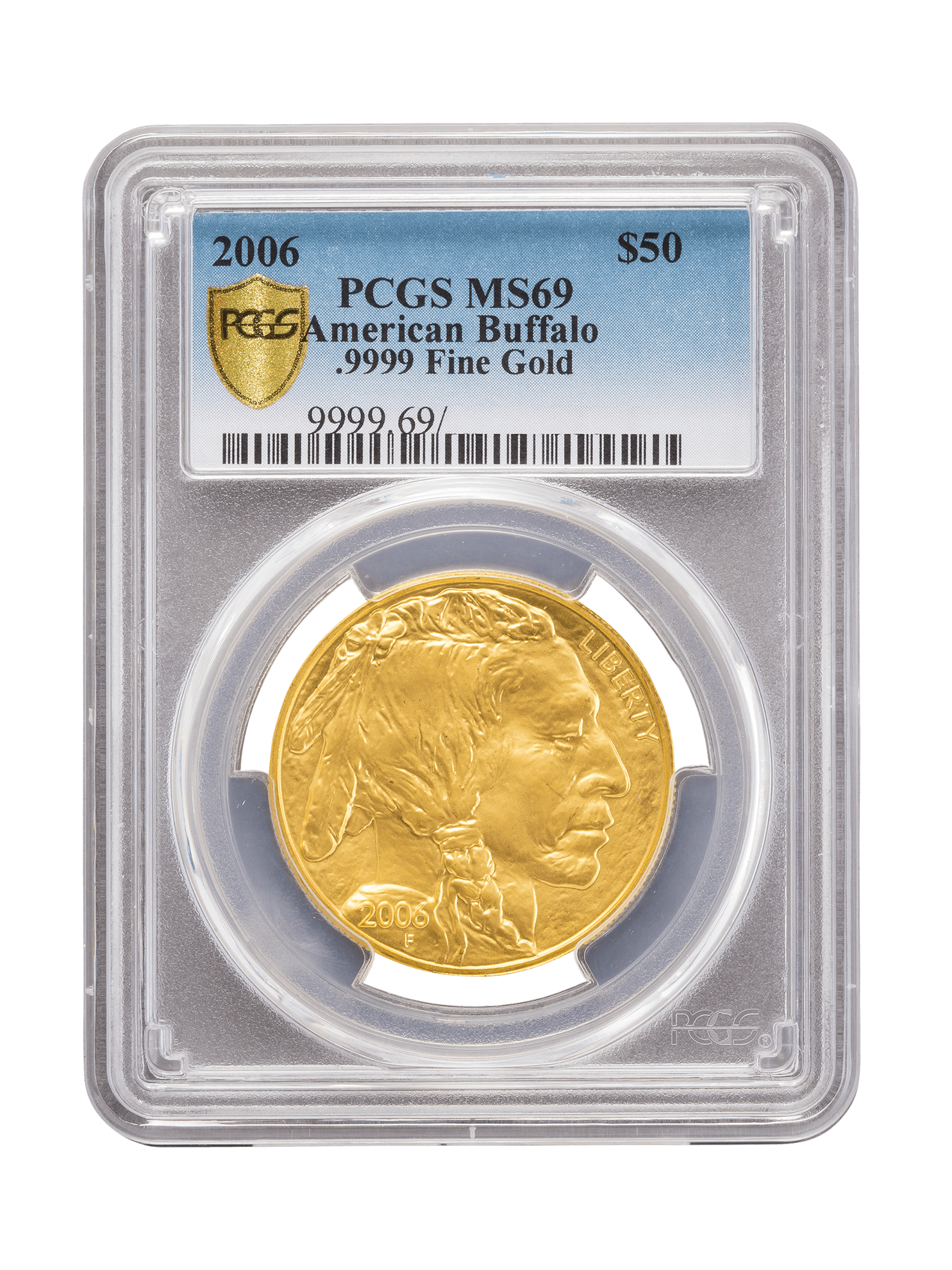 Picture of PCGS 2006 1oz Gold American Buffalo MS69