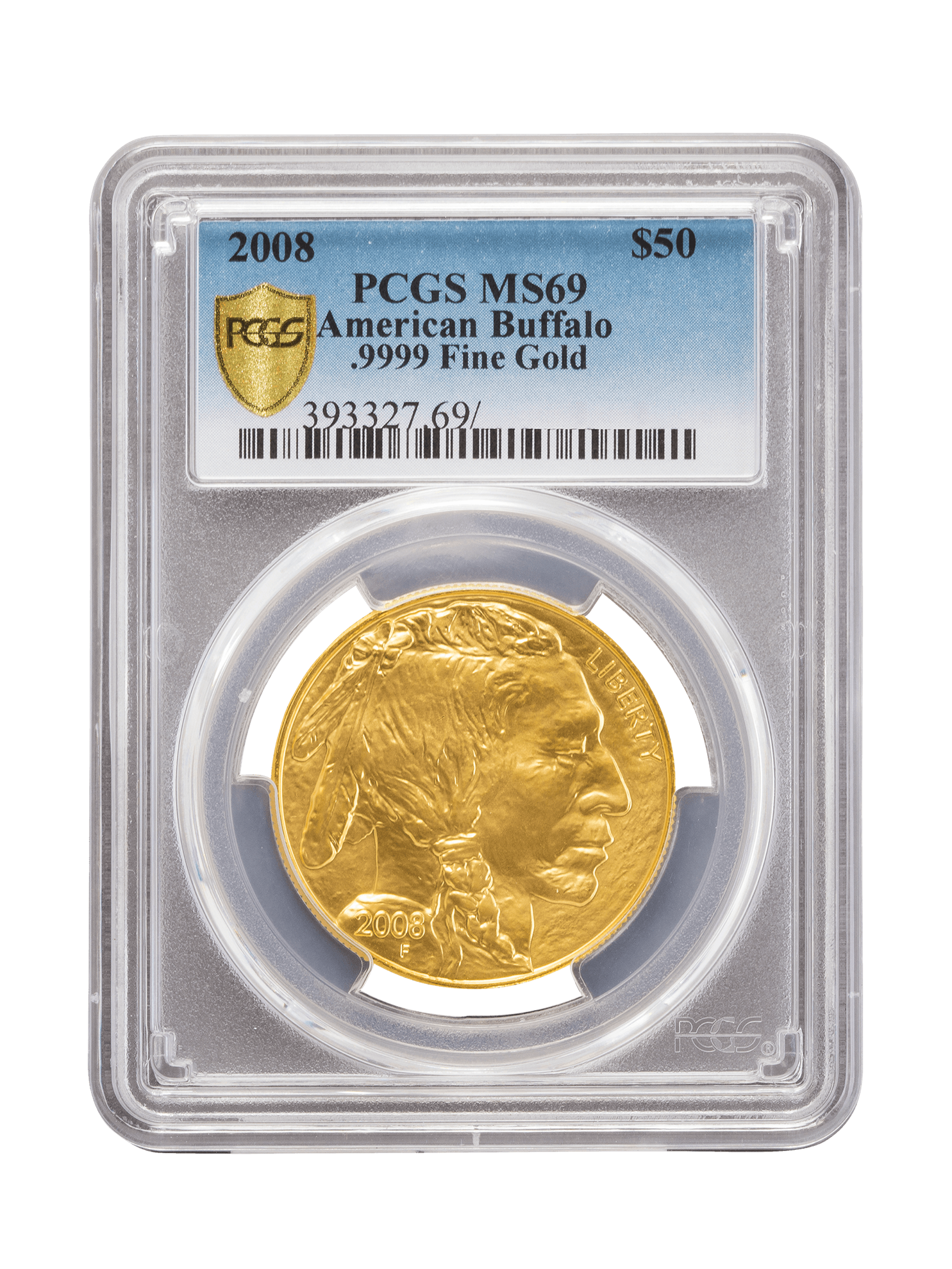Picture of PCGS 2008 1oz Gold American Buffalo MS69