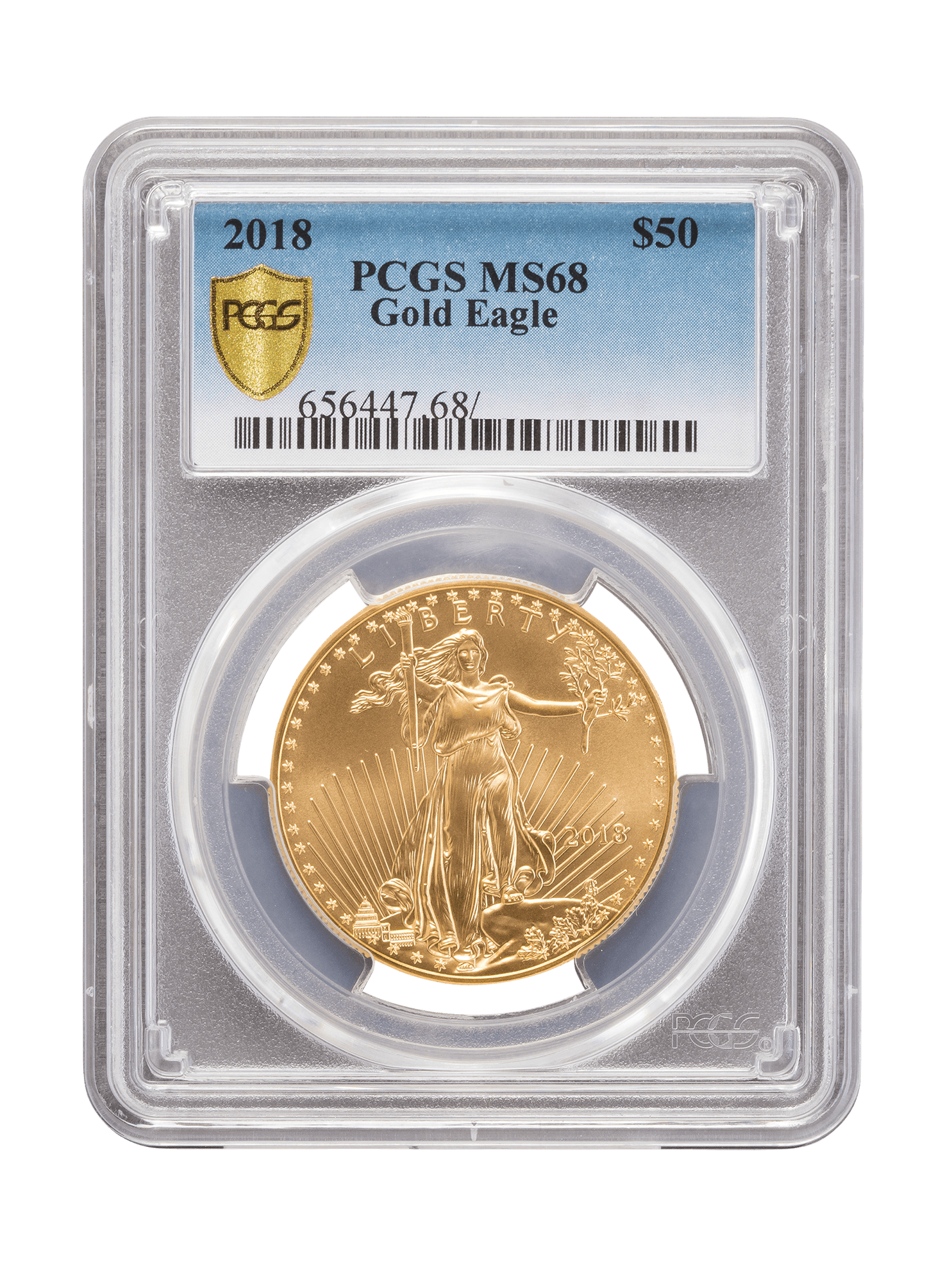 Picture of PCGS 2018 1oz Gold American Eagle MS68