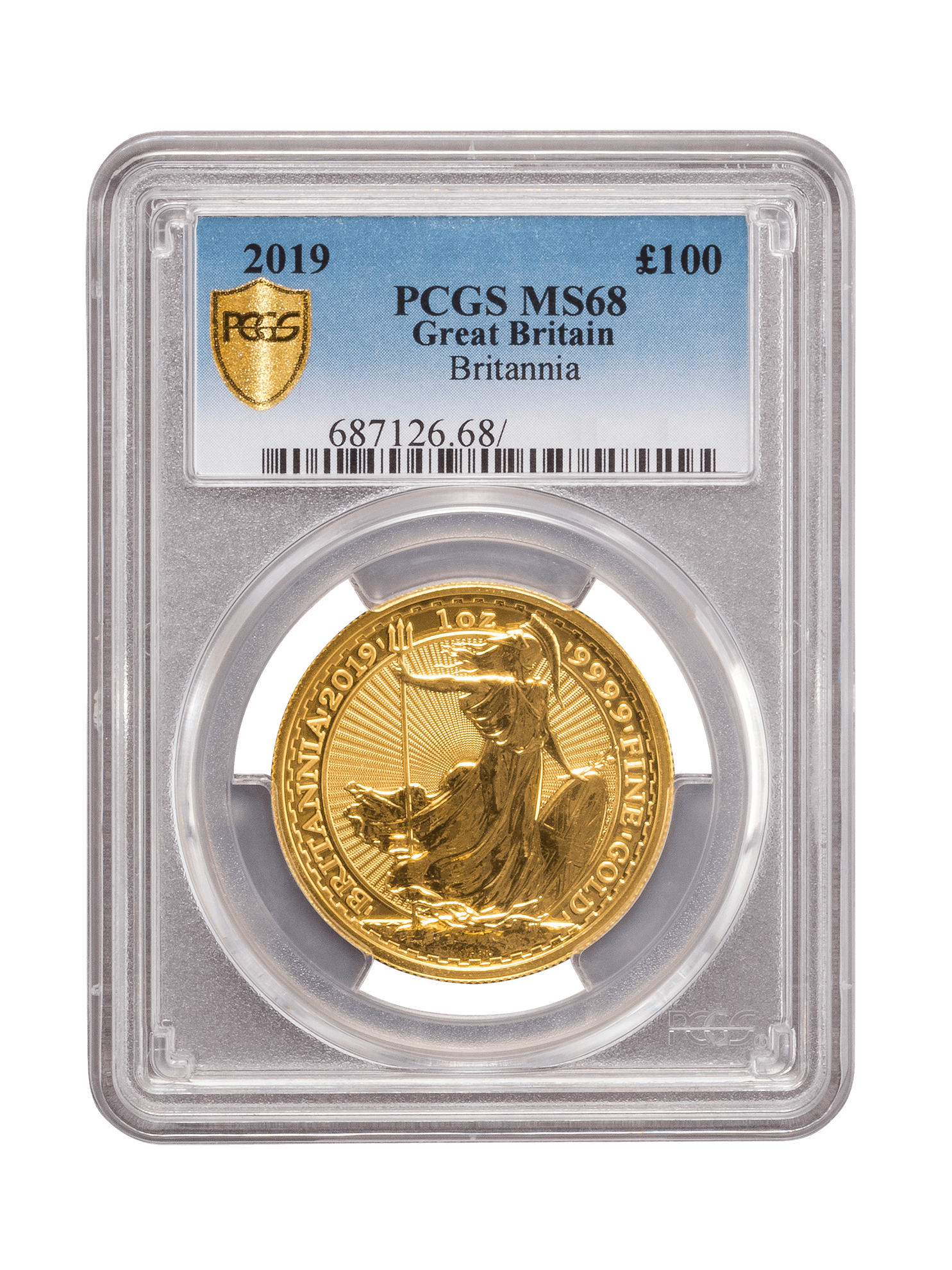 Picture of PCGS 2019 1oz Gold Britannia MS68