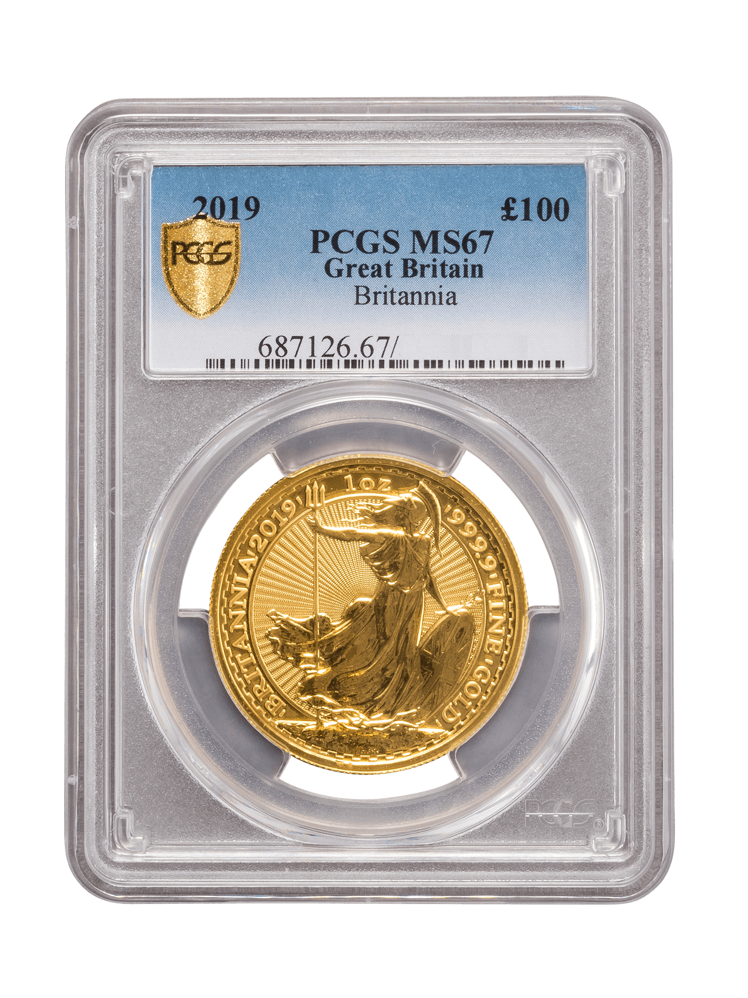 Picture of PCGS 2019 1oz Gold Britannia MS67