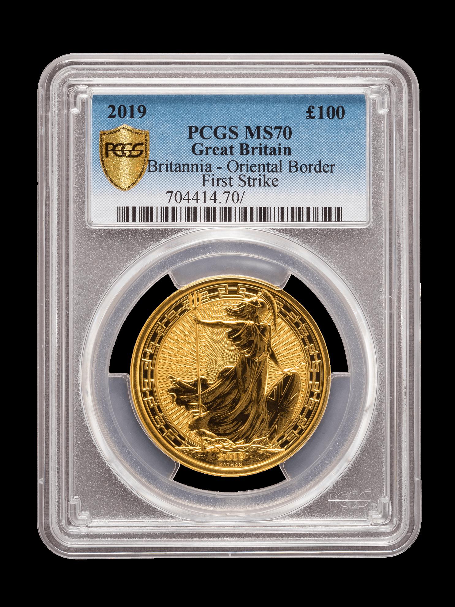 Picture of PCGS 2019 1oz Gold Britannia Oriental Border MS70